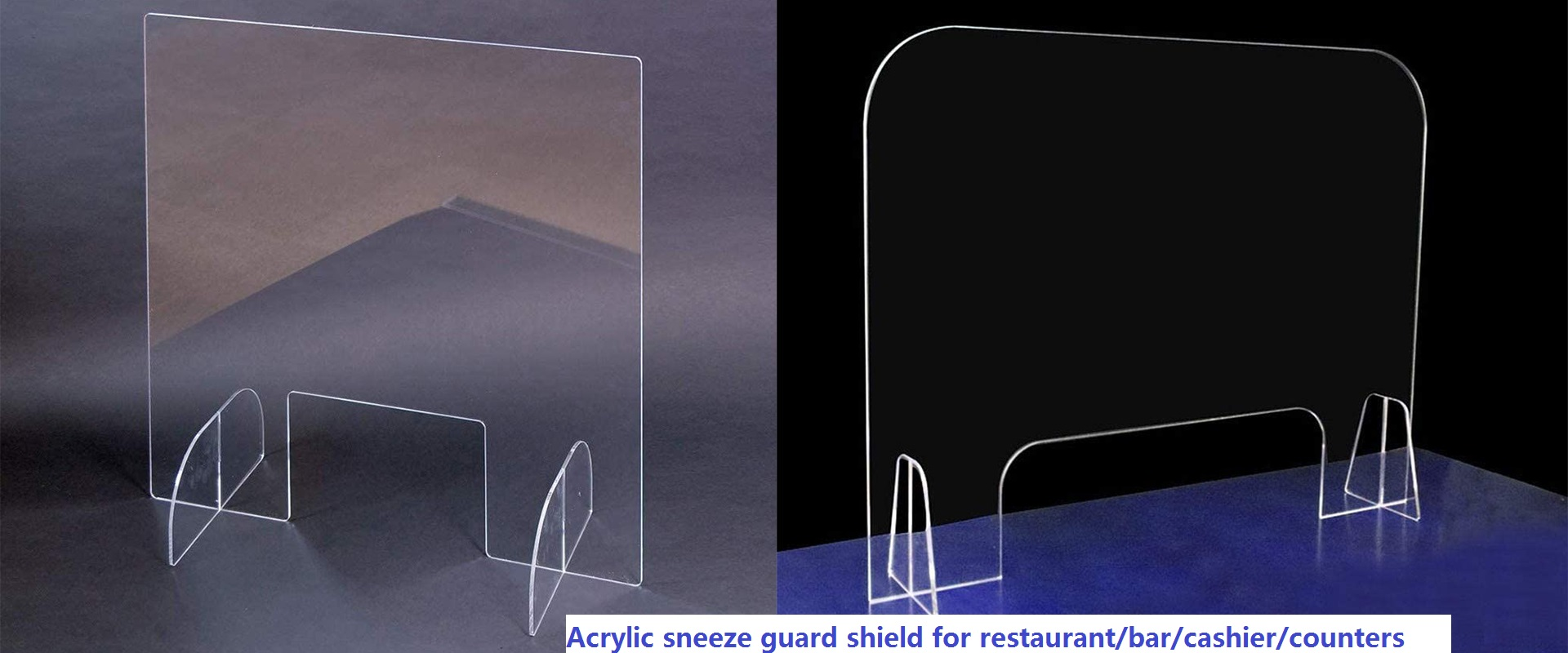 Acrylic Protective Sneeze Guard / Isolation board / Acrylic desk dividers