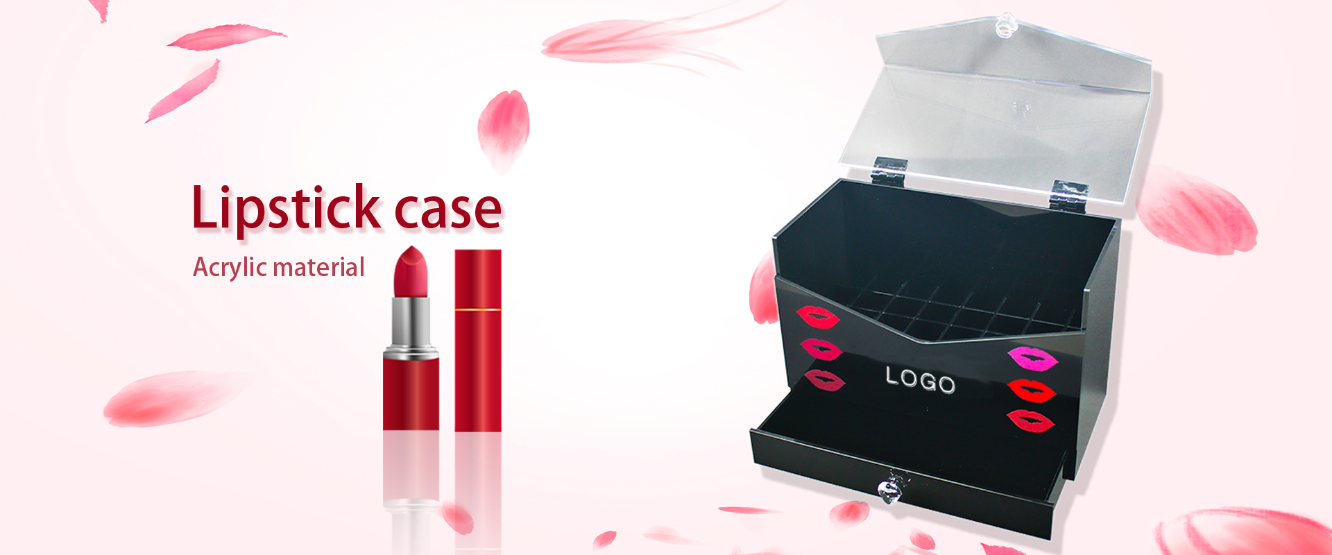 Cosmetic display holder /cosmetic storage box