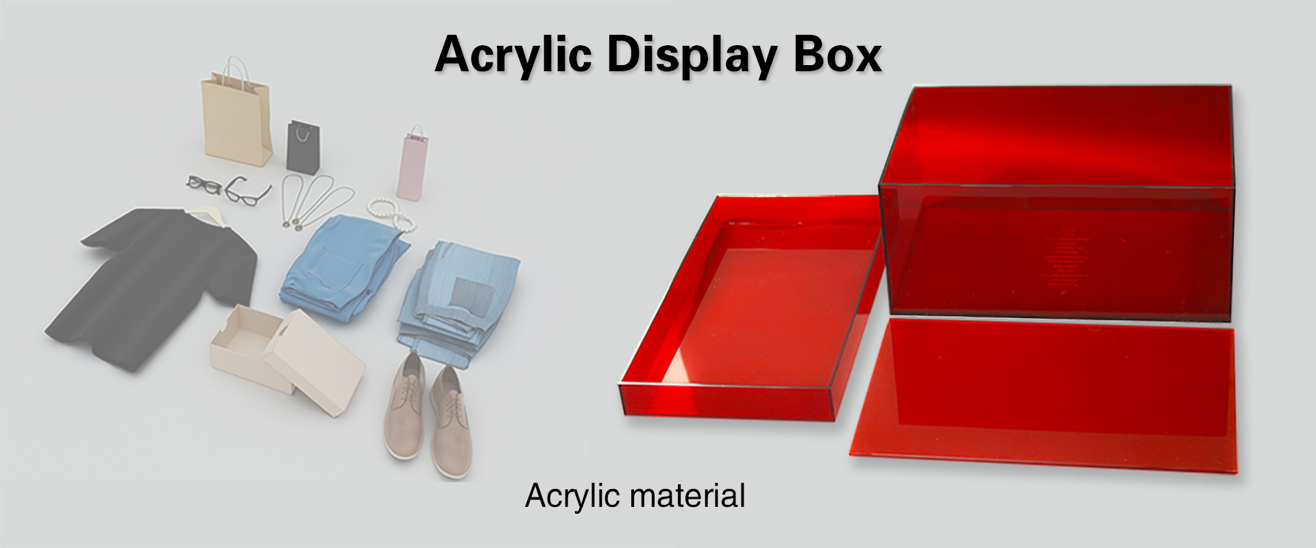 Acrylic storage box for clothes shoes